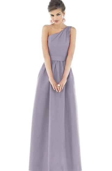 A-Line Long Glamorous Dress With Zipper Back