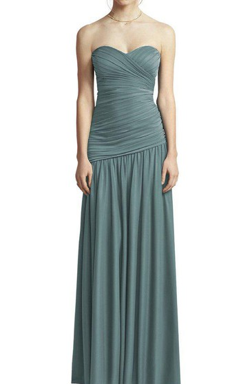 Ruched Sweetheart Chiffon Bridesmaid Dress