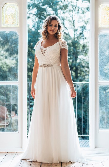 Affordable Plus Figure Wedding Gowns Cheap Large Size Bridals