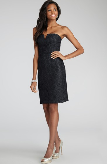 Sexy Short Sheath With Notched Neckline