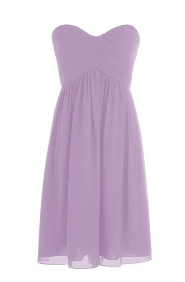 Sweetheart Short Chiffon Dress With Crisscross Ruching