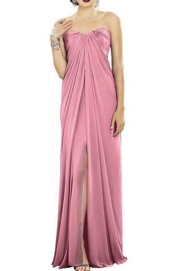 Gracian Sweetheart Chiffon Bridesmaid Dress with Front Split