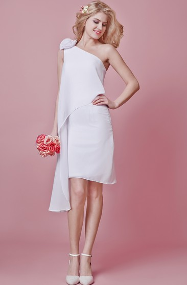 Fabulous One-shoulder Dress With 3D Flower