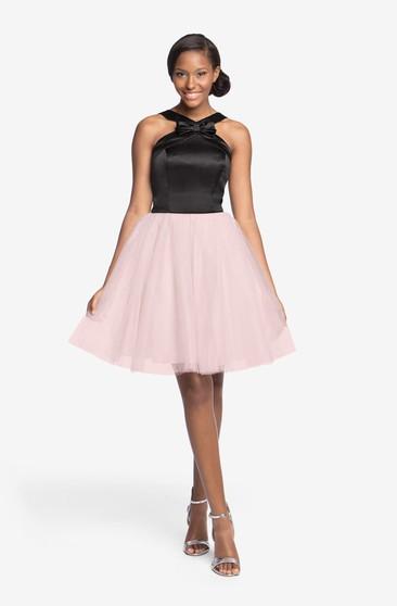Tulle Lovely Short Dress With Ed Satin Bodice