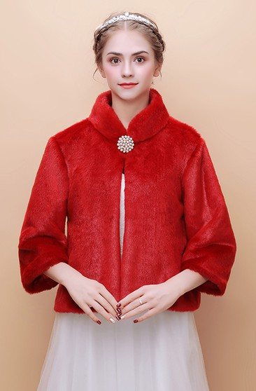 81a4a57a3c56 ... Korean Short Paragraph White Warm Winter Style Bow Fur Coat. US$83.48.  US$33.39. Bridal Long-sleeved Wedding Shawl New Warm Winter Red Wool Shawl