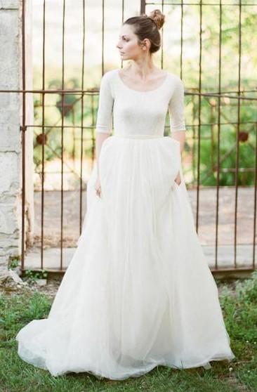 Simple Vintage Wedding Dresses   Retro Wedding Dresses - Dorris Wedding
