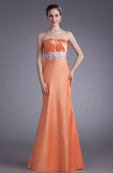 Flipped Strapless Maxi a Line Sleeveless Special Occasion Dresses