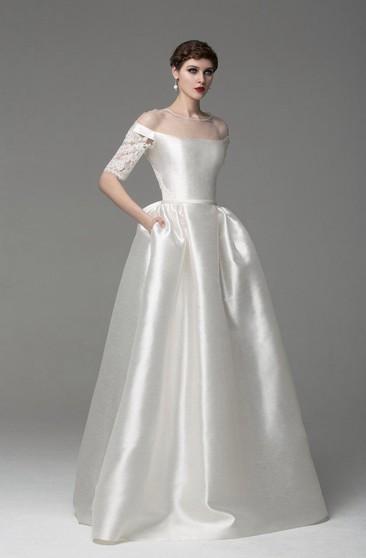3d1ac06545cf Simple White Wedding Dresses   Plain Wedding Dresses - Dorris Wedding