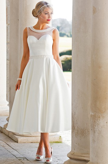 Second Time Marriage Casual Wedding Gown, Casual 2nd Bridal ...