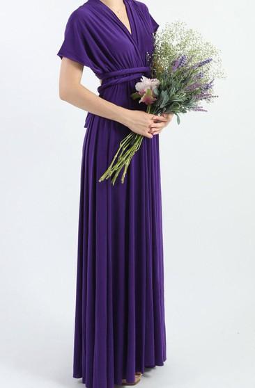 Royal Purple Color Bridesmaids Dresses Lavender