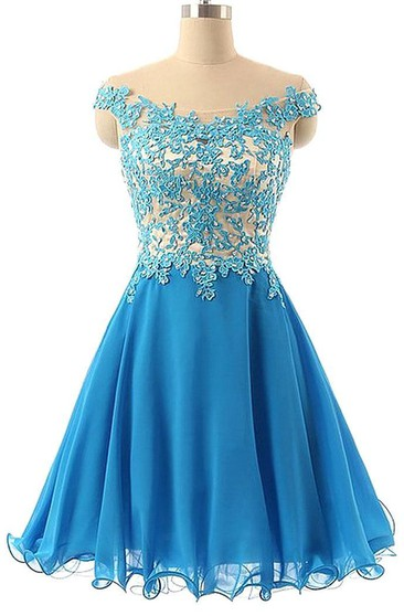 Elegant Lace Appliques Off-the-Shoulder Homecoming Dress Short