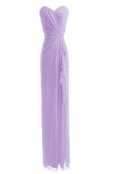 Sweetheart Long Chiffon Sheath With Tiers