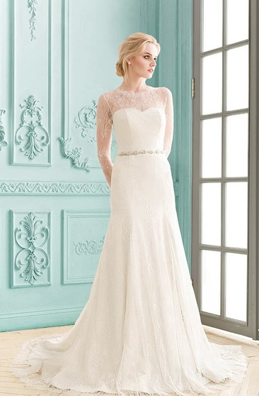 Mature Wedding Dresses With Sleeves - Dorris Wedding
