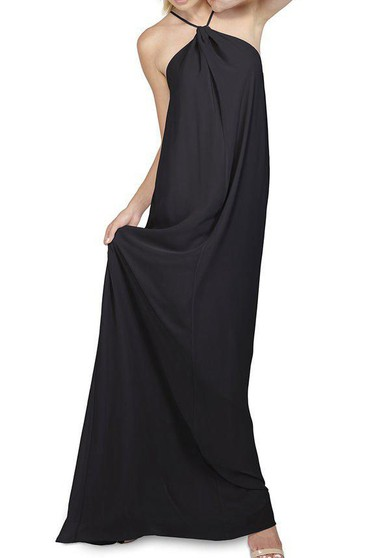 Halter Floor-length Chiffon Bridesmaid Dress