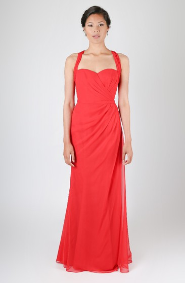 Layered Side Dress With Has Criss-Cross Back Straps