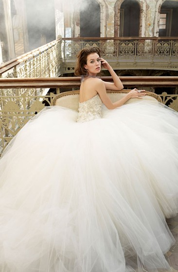 Chic Beaded Embroidered Bodice Tulle Ball Gown