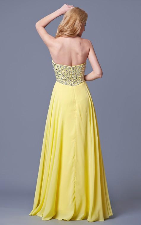 Charming Jewel-beaded Flyaway Chiffon Gown - 2