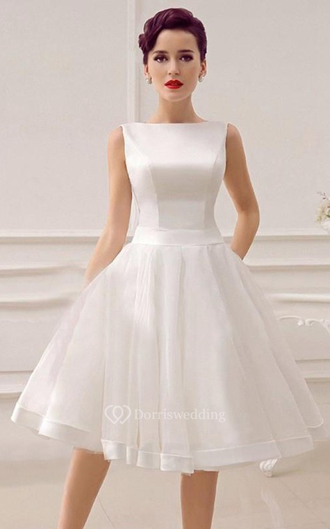 A-Line Sweetheart Sleeveless Backless Organza Dress - 2