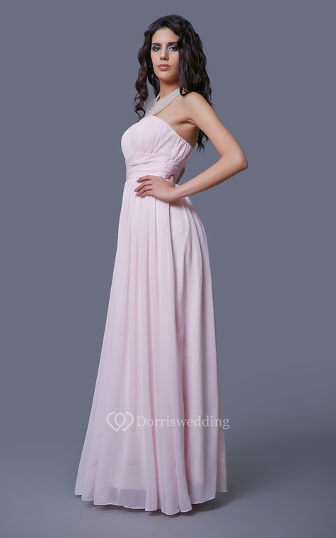 Feminine Strapless Empire-waisted Prom Gown with Pleats - 2