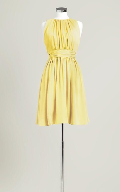 Sleeveless A-Line Short Dress With Jewel Neck - 9