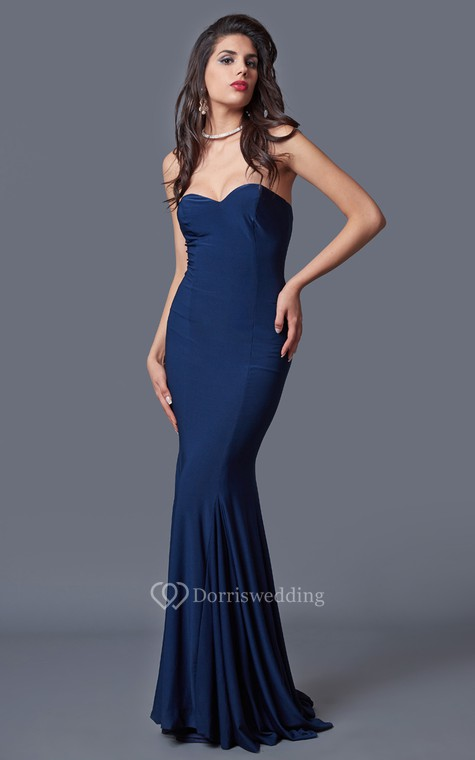 Sexy Sweetheart Mermaid Jersey Gown With Pleats - 2
