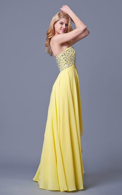 Charming Jewel-beaded Flyaway Chiffon Gown - 3