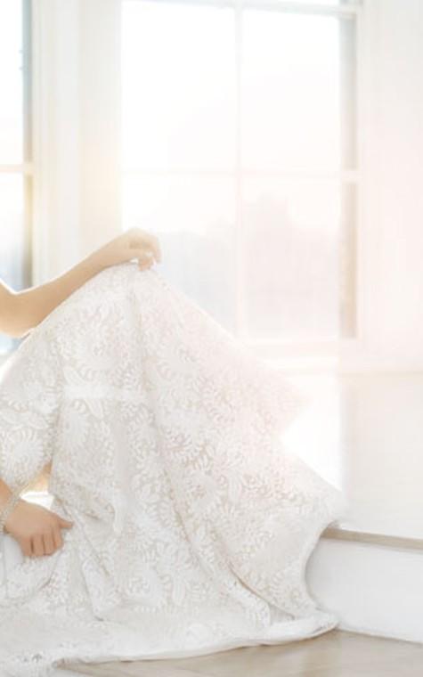 Classic Sleeveless V-Neck Floor Length Lace Dress - 3