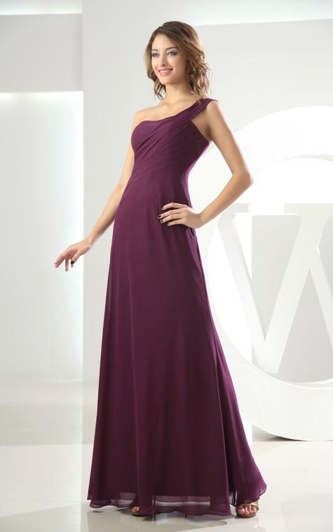 Adorable Chiffon Sleeveless Floor-Length Dress With Ruching - 4