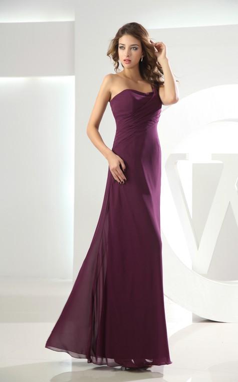 Adorable Chiffon Sleeveless Floor-Length Dress With Ruching - 3