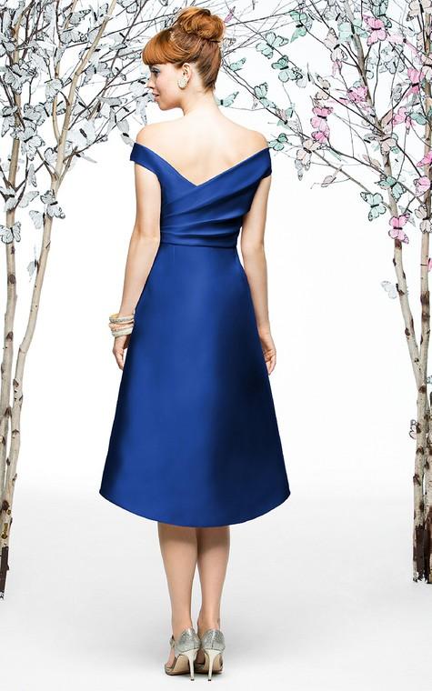 Knee-Length Chiarming Satin A-Line Dress - 2