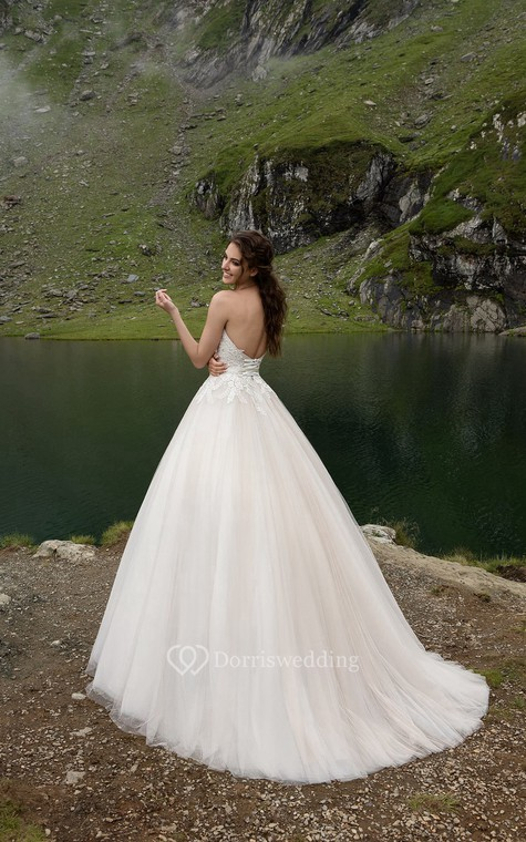 Wedding Dress For Hire Glasgow : Sweetheart appliques backless a line dress with bow dorris wedding