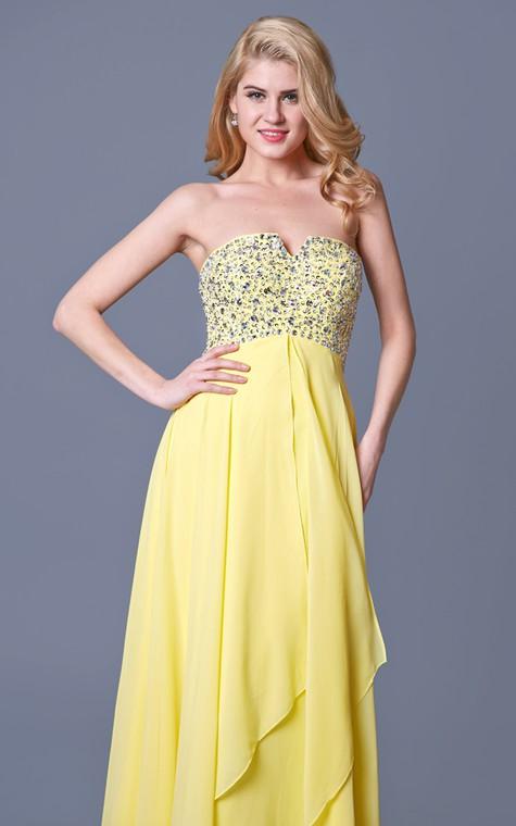 Charming Jewel-beaded Flyaway Chiffon Gown - 4