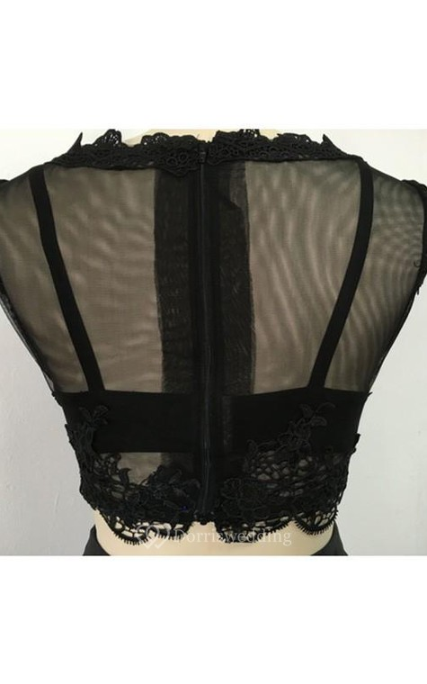 Ball Gown Long Sleeves Bateau Satin Floor-Length Dresses - 4