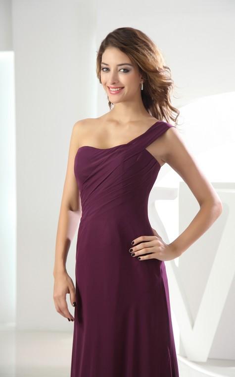 Adorable Chiffon Sleeveless Floor-Length Dress With Ruching - 2