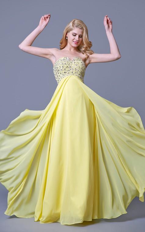 Charming Jewel-beaded Flyaway Chiffon Gown - 5