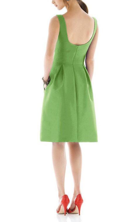 Vintage A-line Satin Short Dress - 2