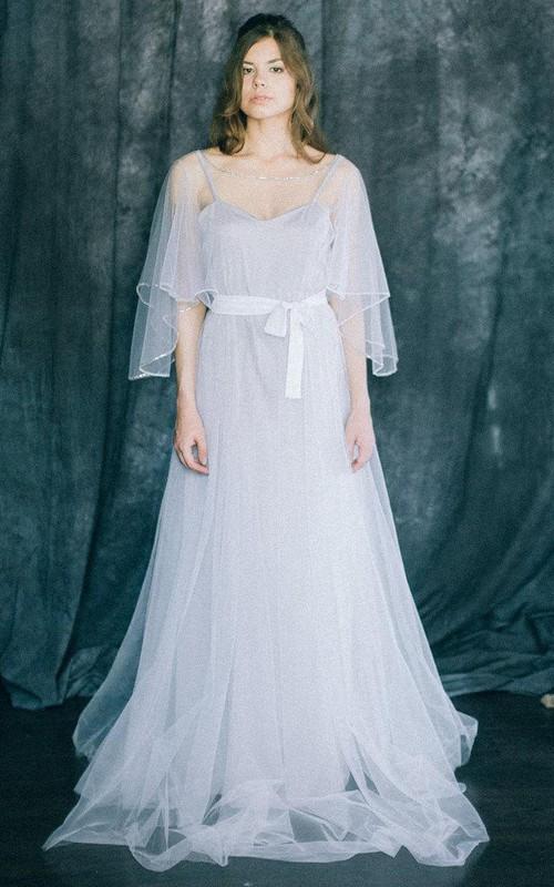 Wedding Lightness Bohemian Light Grey And White Soft Tulle And ...