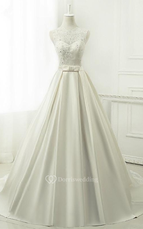 A-Line Ball Gown Tea-Length V-Neck 3-4 Sleeve Long Sleeve Beading ...
