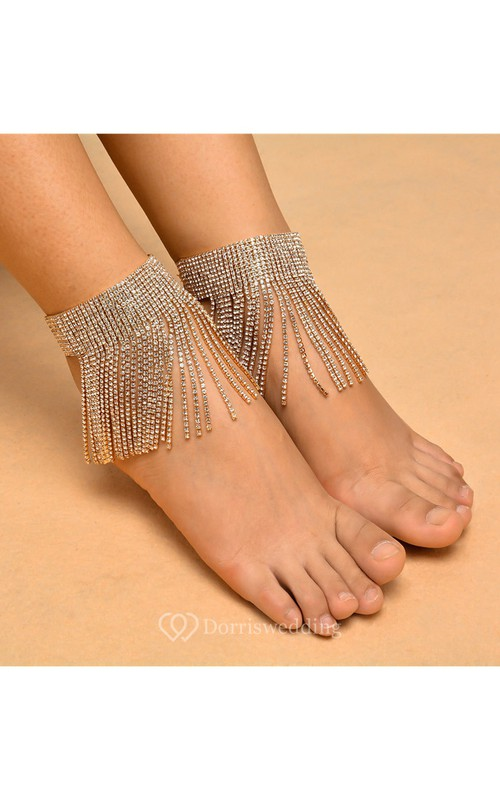 Punk Exaggerated Tide Goods Full Of Tassel Ethnic Style Anklets