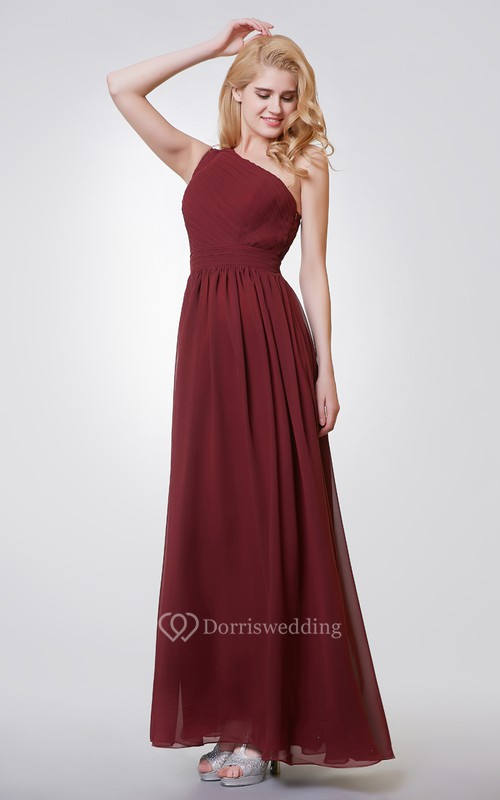 Sleeveless A-line Long Chiffon Dress With Special Back