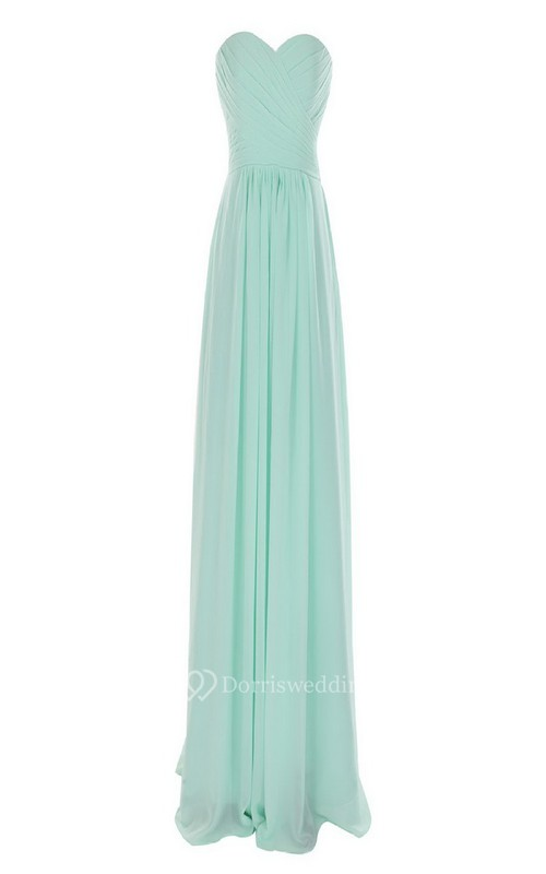 Sweetheart Criss-cross A-line Gown With Zipper Back