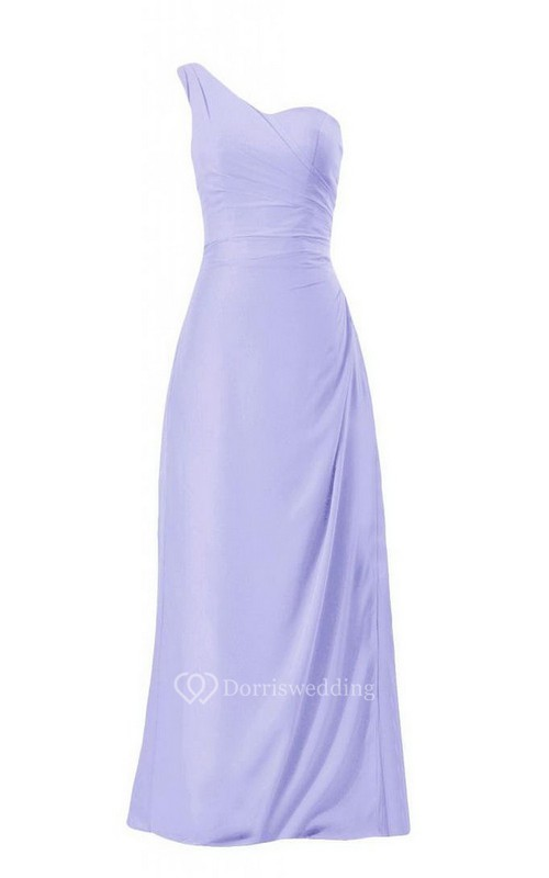 Pure One-shoulder Sweetheart A-line Gown With Zipper Back