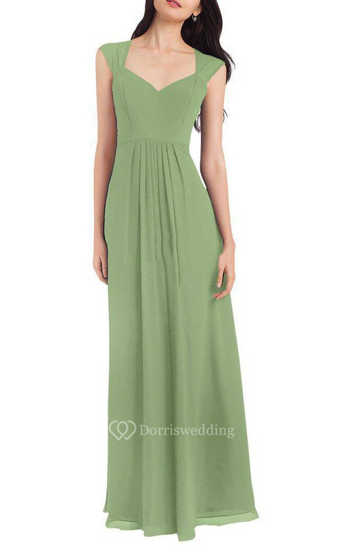 Anne Queen Chiffon Floor-length Bridesmaid Dress