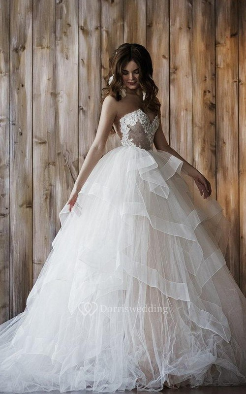 Wedding 2 In 1 Ball Gown Short Wedding Dress - Dorris Wedding