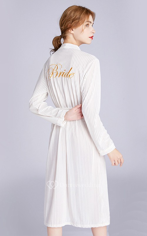 Bride Bridesmaid Embroidery Long Sleeved Robe