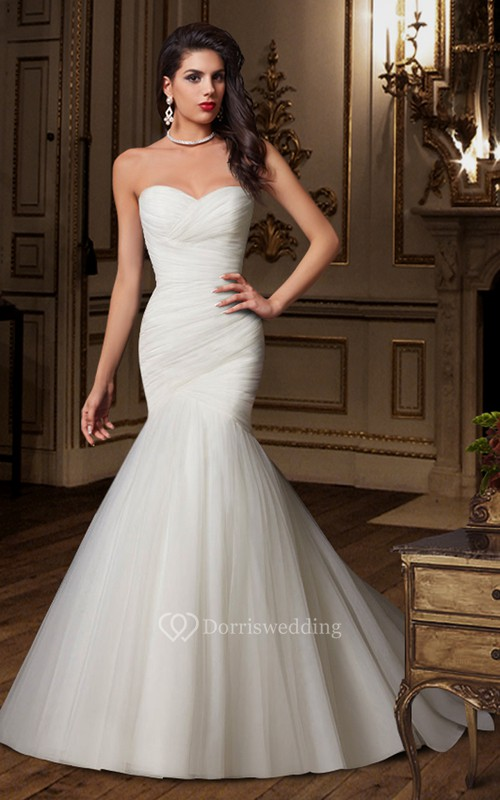 Sweetheart Criss-cross Ruching Mermaid Wedding Dress With Lace-up ...