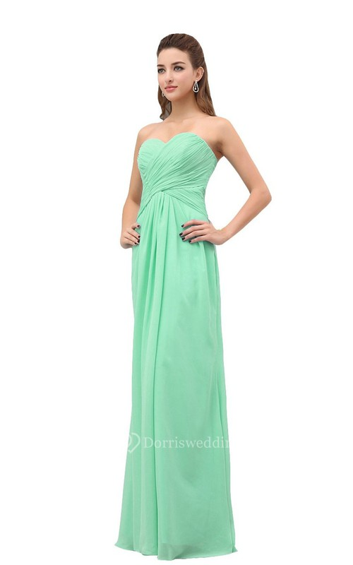 Classical Strapless Sweetheart Criss-cross A-line Gown