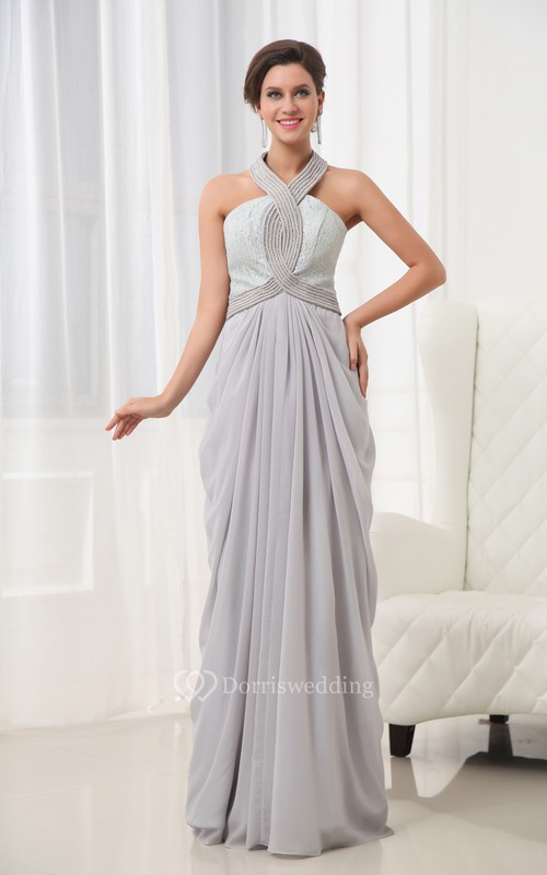 A Line Chiffon Gown