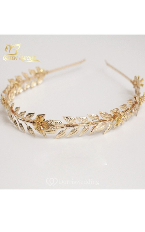 European Handmade Vintage Golden Baroque Willow Branches Flowers Headband