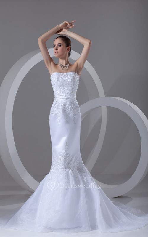 Magnificent Satin Organza Sleeveless Soft Sweetheart Wedding Dresses